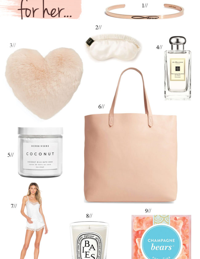 Valentine's Day wish list with unique gift ideas for her