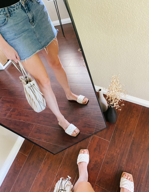 Summer Slide Sandals featured by top LA fashion blogger, Tea Cups and Tulips.