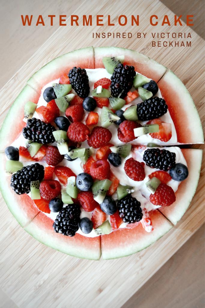 Fresh watermelon cake inspired by Victoria Beckham